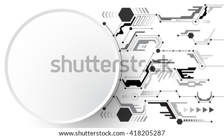 Vector abstract background of technological innovation.