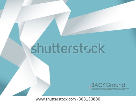 Vector abstract background. Origami and polygon geometric in pastel colors background - stock vector