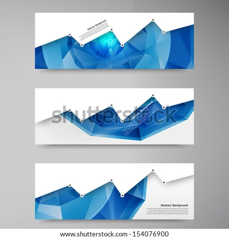 Vector abstract background. Polygon blue and card geometric - stock vector