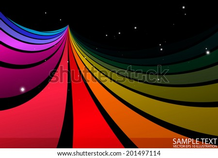 Vector abstract background rainbow illustration - Vector colorful rainbow background illustration - stock vector