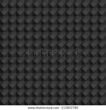 Vector Abstract Background. Seamless Minimalistic Black Geometric Pattern