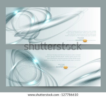 vector abstract background set - stock vector