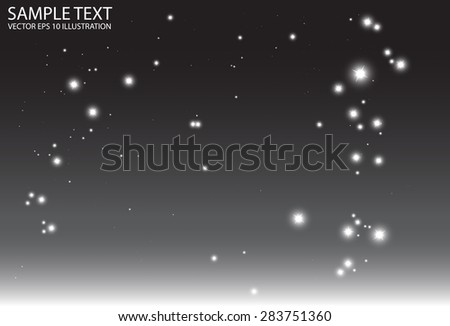 Vector abstract background sparkles illustration - Abstract dark glitters background design illustration - stock vector