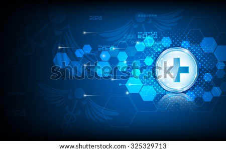 vector abstract background tech innovation medical health care concept