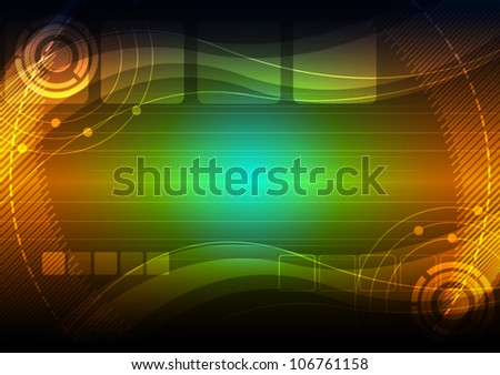 vector abstract background technology - stock vector