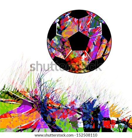 Vector Abstract background with a soccer ball - stock vector