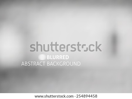 vector abstract background with blurred objects, gray color - stock vector