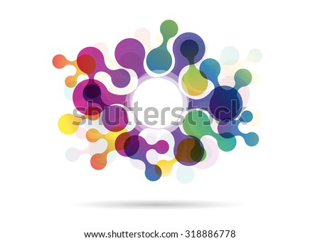 Vector Abstract background with circles - stock vector