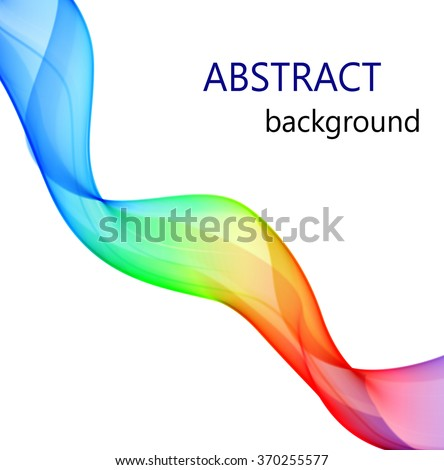 Vector abstract background with color wave