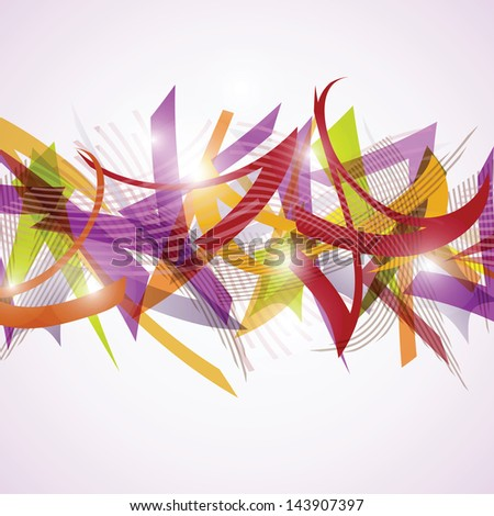 Vector abstract background with colorful geometric shapes
