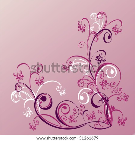 Vector abstract background with flower ornament - stock vector