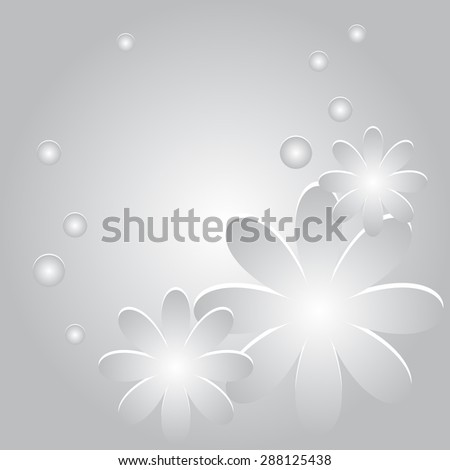 Vector abstract background with flowers and circles  - stock vector