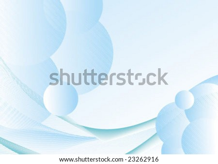 vector abstract background with gradient blue grid - stock vector