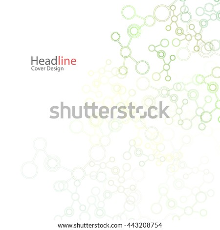 Vector abstract background with molecule structure. Science connection concept design.