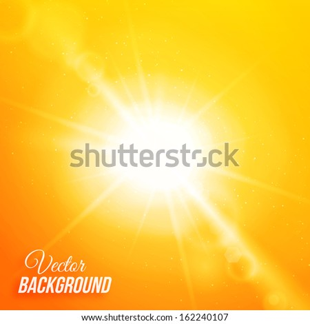 Vector abstract background with sun and lens flares