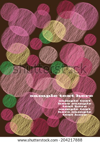 vector abstract background with the circles drawn colored text - stock vector