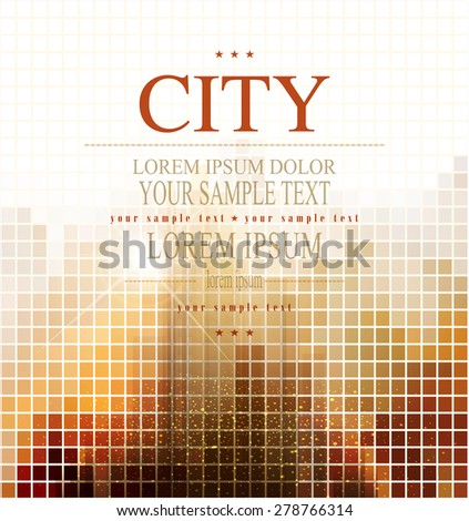 vector abstract banner for business with the city - stock vector