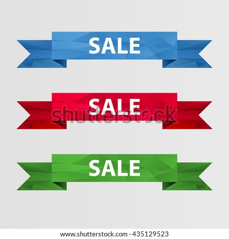 Vector abstract banners - SALE