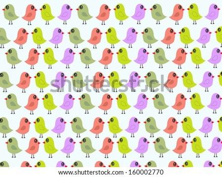 Vector Abstract Birds  - stock vector