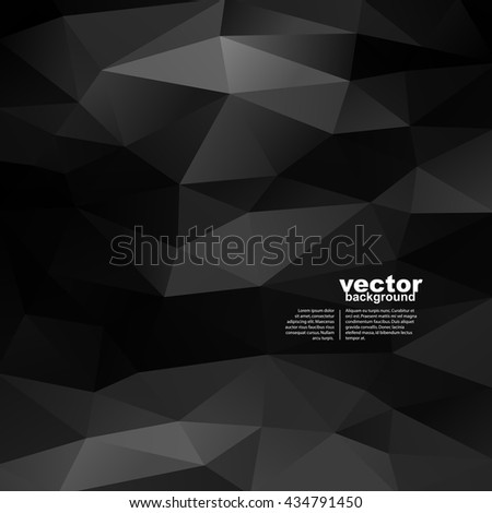 Vector abstract black geometric background