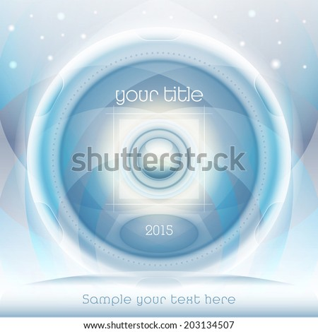 Vector abstract blue background in high-tech style for design of brochure or covers.