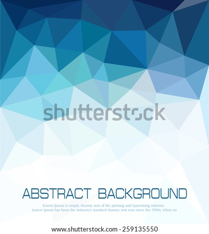 vector abstract blue background with mosaic for business  - stock vector