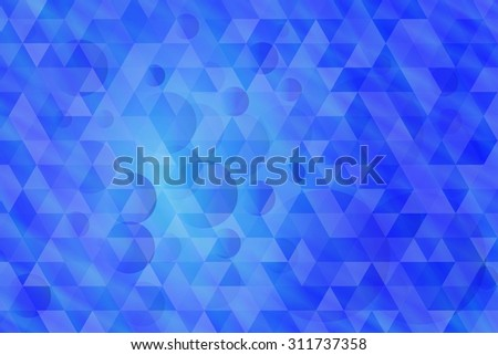 Vector abstract blue background with triangles and circles - stock vector