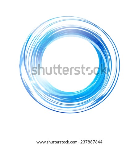 Vector abstract blue circle. Banner, flyer or Logo design template .  - stock vector