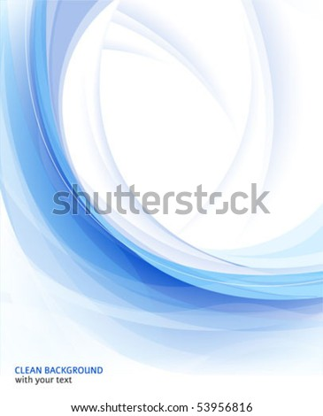 Vector abstract blue clean background - stock vector