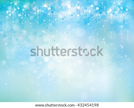 Vector abstract blue sparkle, glitter background. - stock vector