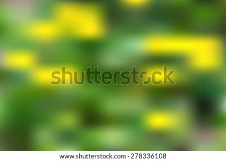 Vector abstract blurred background green and fresh. Summer defocused dandelions - stock vector