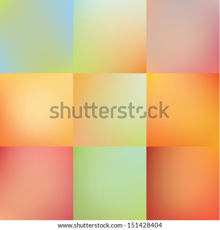 Vector abstract blurred backgrounds. Neutral colorfully backgrounds. Sizable and editable.  - stock vector
