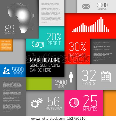 Vector abstract boxes background illustration / infographic template with place for your content - stock vector