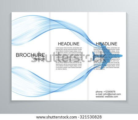 Vector abstract brochure design template. - stock vector
