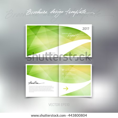 Vector abstract brochure design template. Two-page spreads.