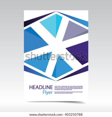 Vector abstract brochure flyer. Design layout template, size A4. Easy to use and edit. Jpeg version also available in gallery. - stock vector
