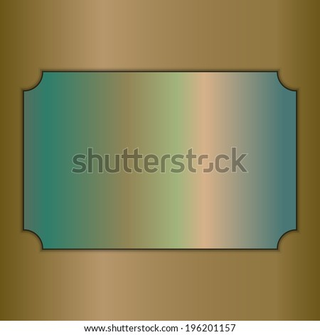 vector abstract brushed gold award plate on beige background