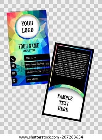 Vector Abstract Business Card, Creative - stock vector
