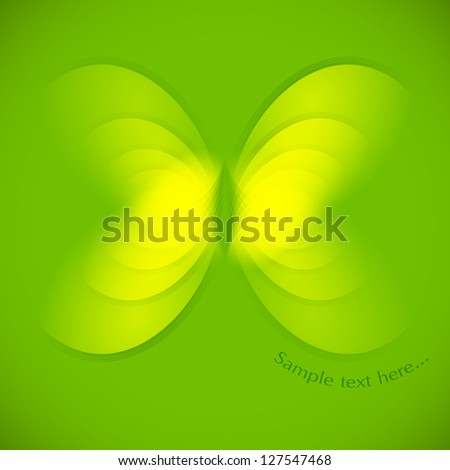 Vector abstract butterfly - stock vector