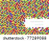 vector abstract checkered background with place for your text - stock vector