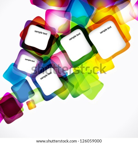 Vector abstract cheerful background. - stock vector