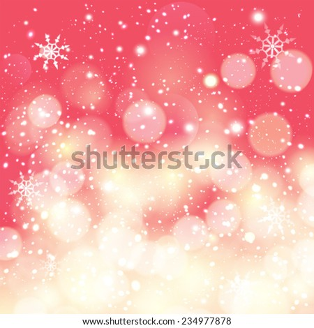 Vector abstract christmas lights on background. - stock vector