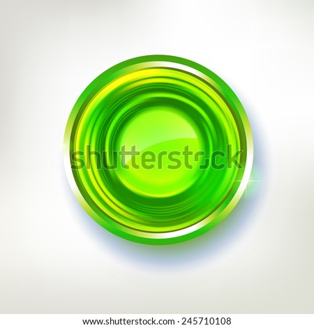 Vector abstract circle badge. Summer green eco friendly award illustration. Empty design element for label and sticker design. - stock vector