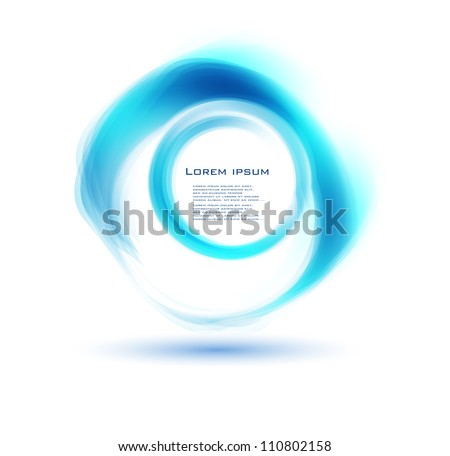 Vector abstract circle blue. curve and square - stock vector