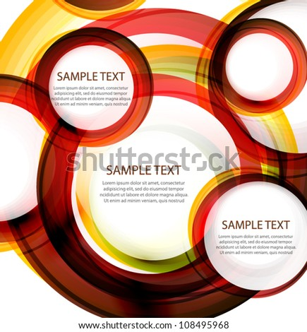 Vector abstract circles. Banner with sample text - stock vector