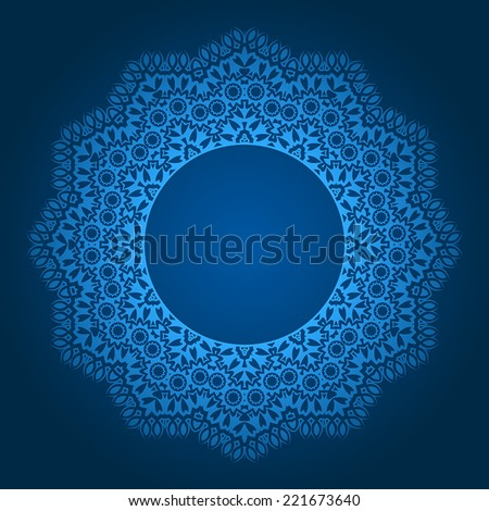 vector abstract circular pattern design mandala style. Round Pattern Mandala. Abstract design of Persian- Islamic-Turkish-Ara bic vector circle floral ornamental border! - stock vector