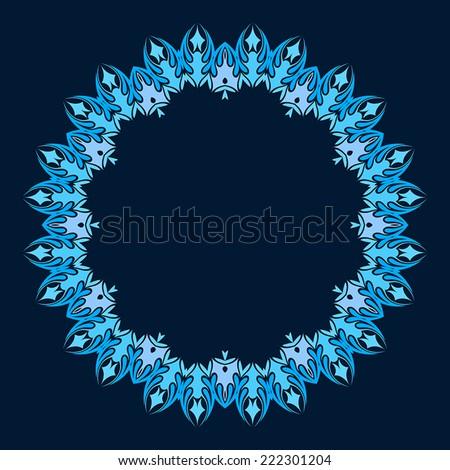 vector abstract circular pattern design mandala style. Round Pattern Mandala. Abstract design of Persian- Islamic-Turkish-Arabic vector circle floral ornamental border! - stock vector