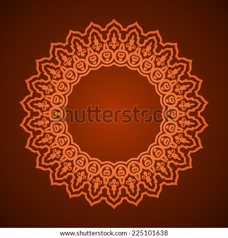 vector abstract circular pattern design mandala style. Round Pattern Mandala. Abstract design of Persian- Islamic-Turkish-Arabic vector circle floral ornamental border! - stock vector