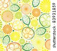 vector abstract citrus background - stock vector