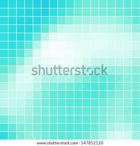 Vector abstract colored square mosaic blue tile background, square format.